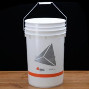 Plastic Fermenting Bucket and Lid with Hole and Grommet