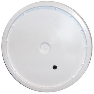 7.8 Gallon or 7.9 Gallon Fermenting Bucket Lid with Drilled Hole and Grommet