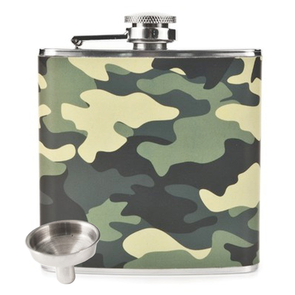 6oz Camouflage Flask and Funnel Set