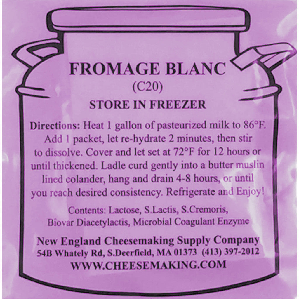 Fromage Blanc Direct Set Cheese Culture - 5-Pack