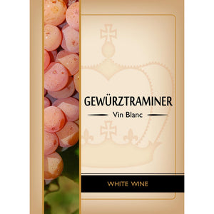 Gewurztraminer Adhesive Wine Bottle Labels - 30-Pack