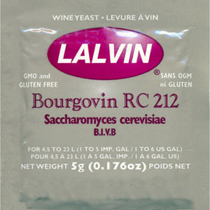 Lalvin Bourgovin RC 212 Wine Yeast, 5 grams