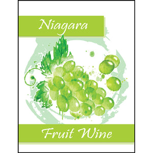 Niagara Fruit Wine Bottle Labels - 30-Pack