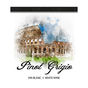 Pinot Grigio Adhesive Wine Bottle Labels - 30-Pack