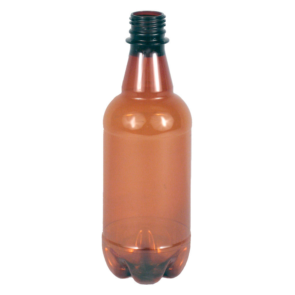 500mL Plastic Amber Bottles - Case of 24