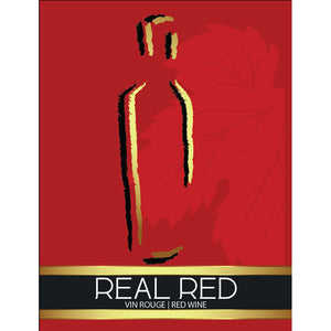 Real Red Adhesive Wine Bottle Labels - 30-Pack