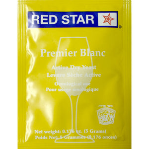 Red Star Premier Blanc Wine Yeast, 5 grams