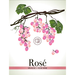 Rosé Wine Bottle Labels - 30-Pack
