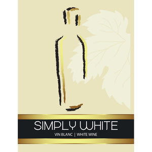 Simply White Adhesive Wine Bottle Labels - 30-Pack