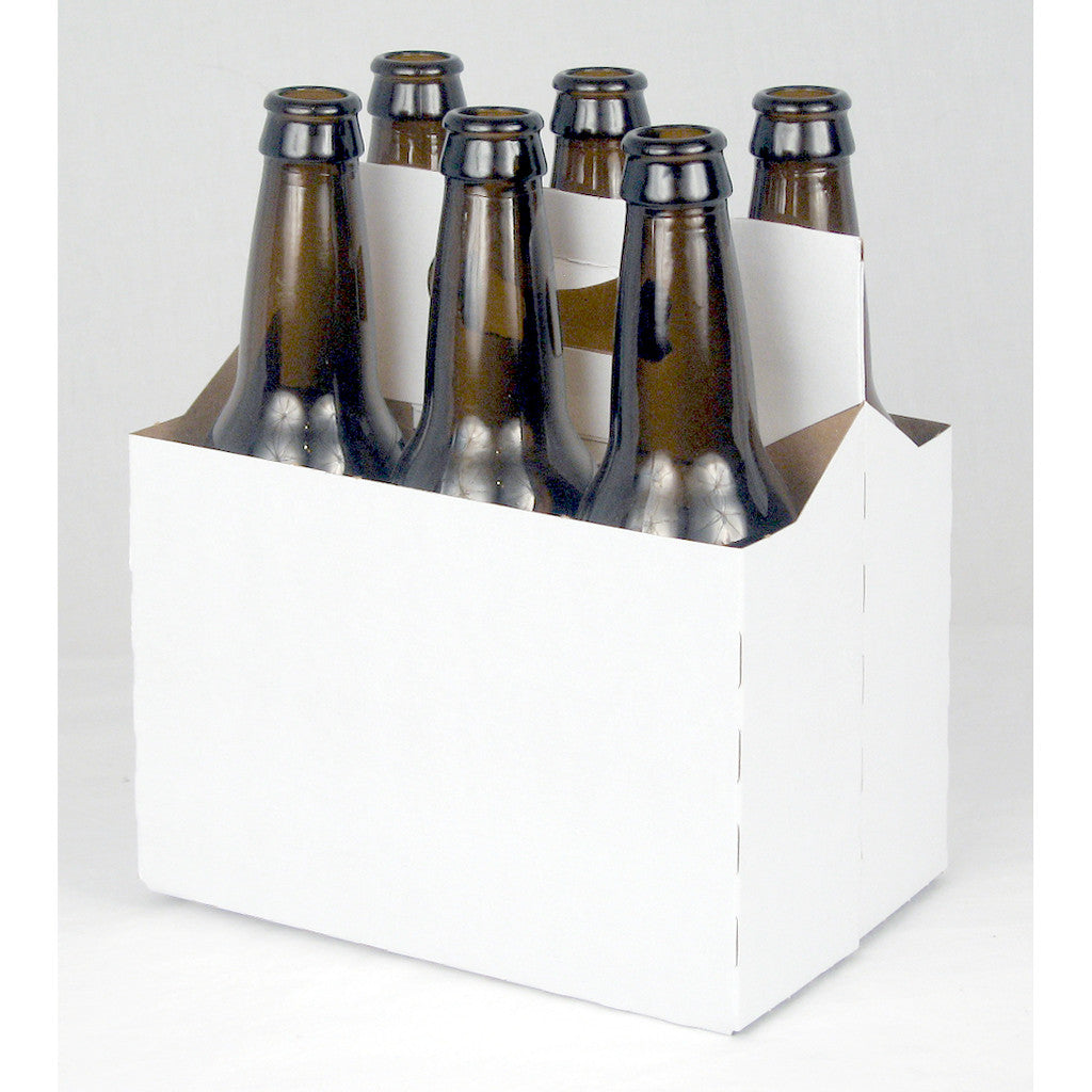 White Cardboard Six Pack Carrier
