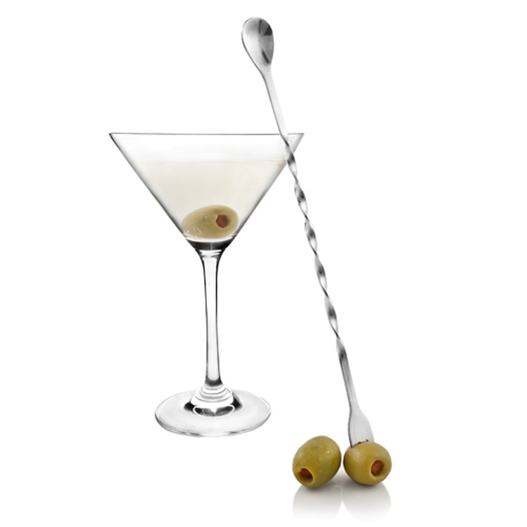 Stainless Steel Cocktail Spoon and Garnish Fork