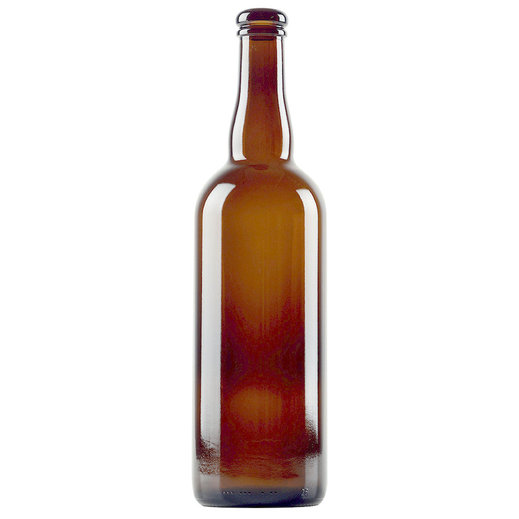 750mL Amber Belgian-Style Beer Bottles - Case of 12