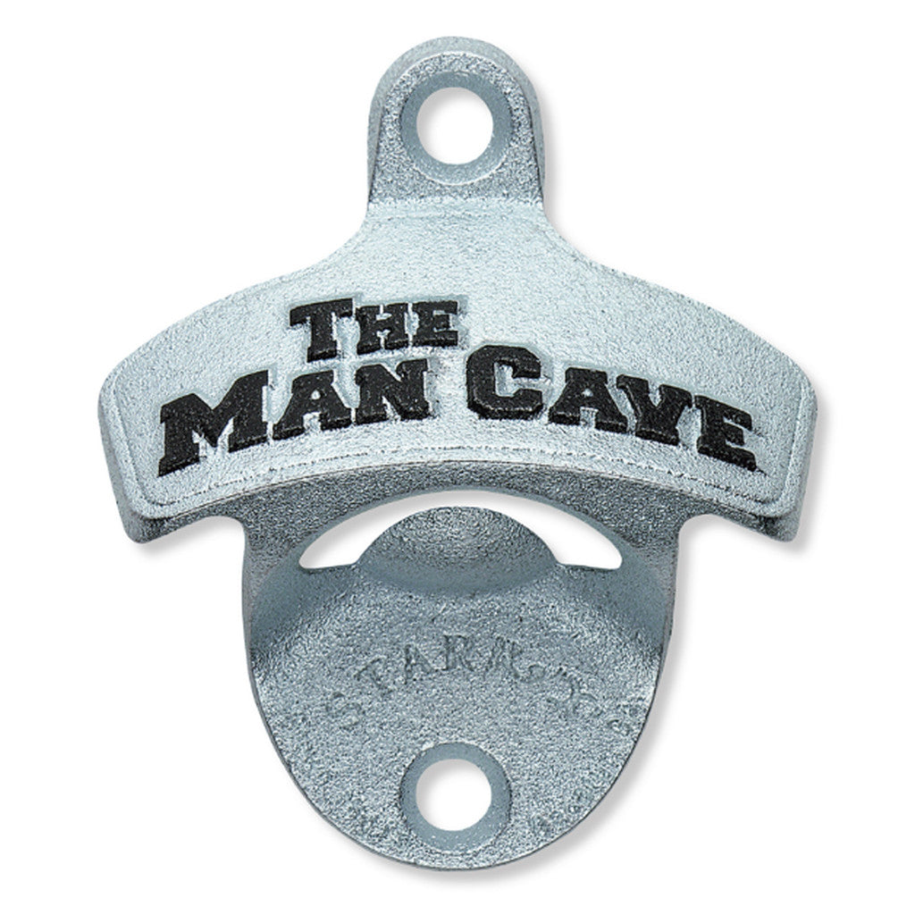 'The Man Cave' Embossed Wall Mount Bottle Opener