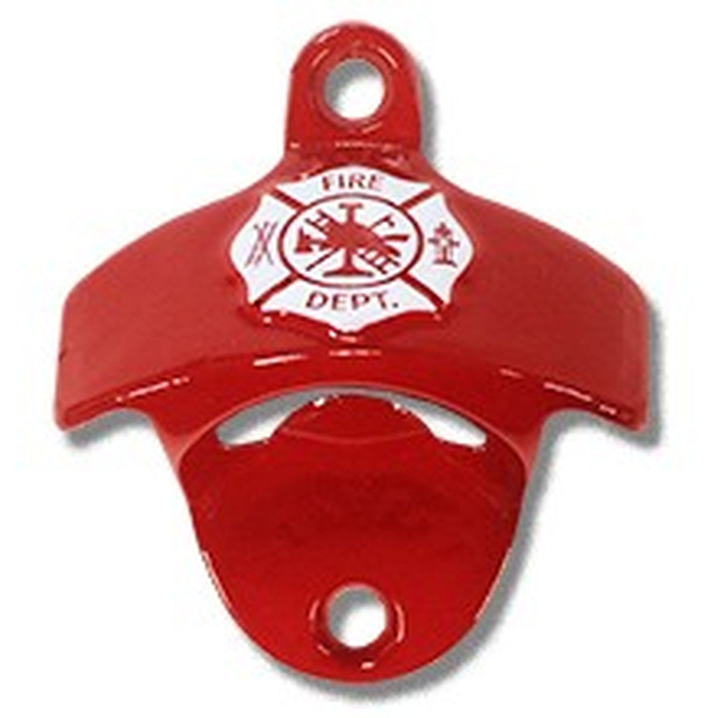 Fireman's Shield Embossed Wall Mount Bottle Opener