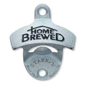 'Home Brewed' Embossed Wall Mount Bottle Opener