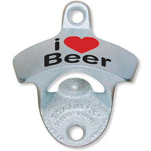 'I Heart Beer' Wall Mount Bottle Opener