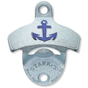 Anchor Embossed Wall Mount Bottle Opener