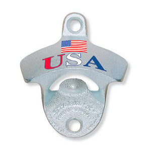 USA Flag Wall Mount Bottle Opener