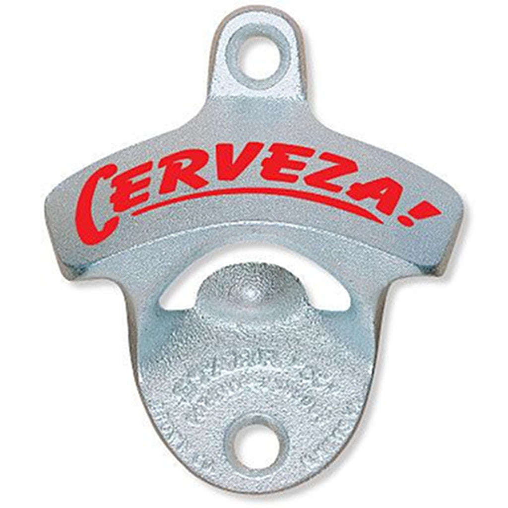 'Cerveza!' Wall Mount Bottle Opener