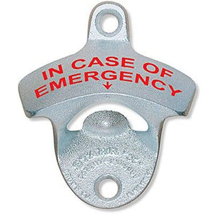 'In Case of Emergency' Wall Mount Bottle Opener