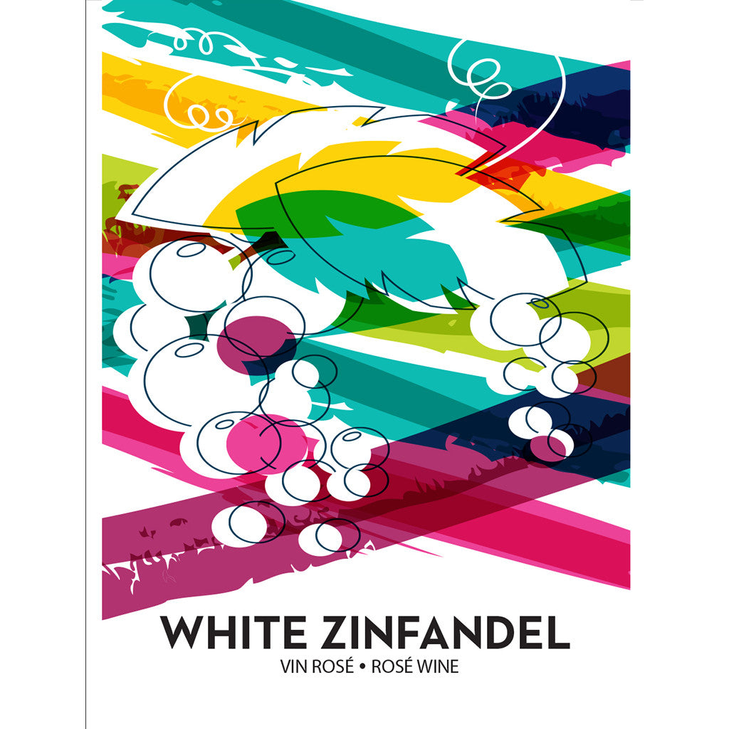 White Zinfandel Wine Bottle Labels - 30-Pack