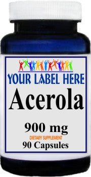 Acerola 900mg 90caps Private Label 100 Bottle Price
