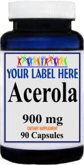Private Label Acerola 900mg 90caps Private Label 12,100,500 Bottle Price