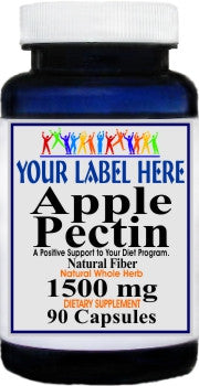 Private Label Apple Pectin 1500mg 90caps Private Label 12,100,500 Bottle Price