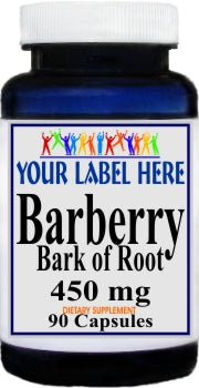 Barberry Bark of Root 450mg 90caps Private Label 25,100,500 Bottle Price