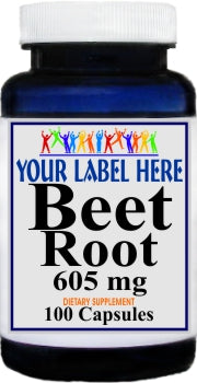 Private Label Beet Root 605mg 100caps or 200caps Private Label 12,100,500 Bottle Price