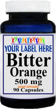 Private Label Bitter Orange 500mg 90caps or 180caps Private Label 25,100,500 Bottle Price