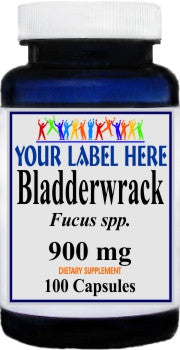 Bladderwrack 900mg 100caps Private Label 25,100,500 Bottle Price