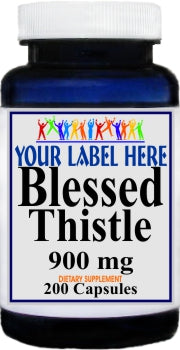 Private Label Blessed Thistle 900mg 200caps Private Label 12,100,500 Bottle Price