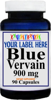 Blue Vervain 900mg 90caps Private Label 25,100,500 Bottle Price