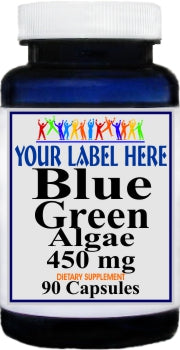 Blue Green Algae 450mg 90caps Private Label 25,100,500 Bottle Price