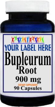 Private Label Bupleurum Root 900mg 90caps or 180caps Private Label 12,100,500 Bottle Price
