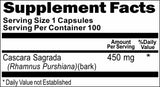Private Label Cascara Sagrada 450mg 100caps Private Label 12,100,500 Bottle Price