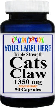 Cats Claw Triple Strength 1350mg 90caps Private Label 100 Bottle Price