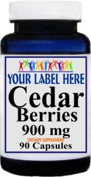 Cedar Berries 900mg 90caps Private Label 25,100,500 Bottle Price