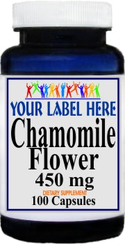 Private Label Chamomile Flower 450mg 100caps Private Label 12,100,500 Bottle Price