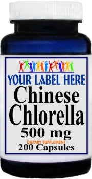 Private Label Chinese Chlorella 500mg 200caps Private Label 12,100,500 Bottle Price
