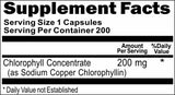 Private Label Chlorophyll Concentrate 200mg 100caps or 200caps Private Label 12,100,500 Bottle Price