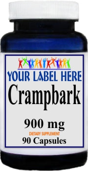 Crampbark 900mg 90caps Private Label 25,100,500 Bottle Price