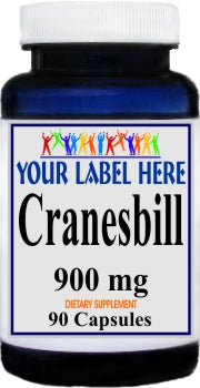 Private Label Cranesbill 900mg 90caps Private Label 12,100,500 Bottle Price