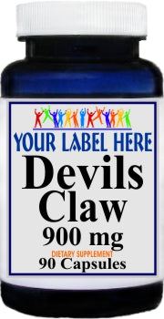 Private Label Devils Claw 900mg 90caps Private Label 12,100,500 Bottle Price