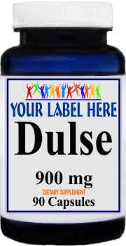 Dulse 900mg 90caps Private Label 25,100,500 Bottle Price