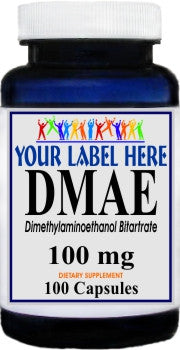 Private Label DMAE 100mg 100caps Private Label 12,100,500 Bottle Price