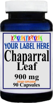 Chaparral 900mg 90caps Private Label 25,100,500 Bottle Price