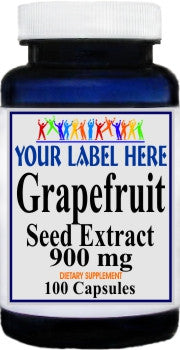 Private Label Grapefruit Seed Extract 900mg 100caps or 200caps Private Label 12,100,500 Bottle Price
