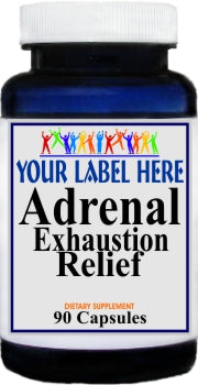Adrenal Exhaustion Relief 90caps Private Label 25,100,500 Bottle Price